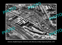 OLD POSTCARD SIZE PHOTO OWLERTON SHEFFIELD ENGLAND THE ENGINEERING WORKS 1951