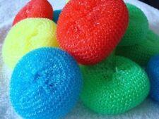 Plastic Cleaning Scrubber Kitchen Dish Pot Pan Washing Spiral Mesh 160 Pcs