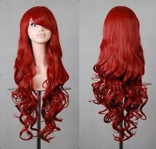 80CM Fashion Women Lace Front Long Wavy Curly Hair Anime Cosplay Party Full Wig