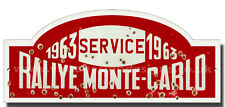 RALLYE MONTE-CARLO METAL SIGN,FAMOUS RALLIES,VINTAGE RALLY NUMBER PLATES 1963