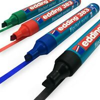 Edding 383 Flipchart Marker Stift - 1-5mm - Meißel Tipp - Schwarz,Blau,Rot, Grün
