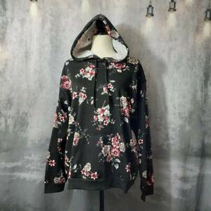 Gypsies & Moondust Black Floral Hoodie XL
