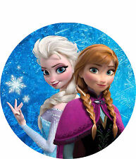 Frozen -  Elsa & Anna Cake Topper - 8 Inch Round  Icing  - Add your message