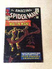 AMAZING SPIDER-MAN #28 ORIGIN 1ST MOLTEN MAN, DITKO, STAN LEE 1965 BLACK COVER