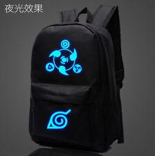 New Anime Cartoon NARUTO Shoulders Backpack Luminous Zipper Student Schoolbag