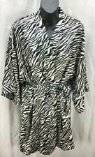 Victoria's Secret Sleepwear One Size Black White Zebra Robe 3/4 Sleeve New 5397
