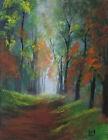 Original Canvas Painting Landscape Art by Rain Crow