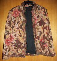Handmade Vintage Brown Autumn Designed Lined Blazer- SIZE L