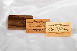 Personalised Gift Wooden Engraved 8GB 16GB USB Pen Drive  Wedding Photographer
