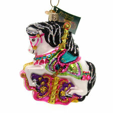 Carousel Horse Glass Ornament Old World Christmas NEW IN BOX