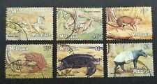 1979 Malaysia Animals Definitive 30c - $2 Stamps 6v Used (Post Mark varies)