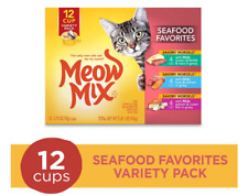 New listing Meow Mix Seafood Favorites Wet Cat Food 24 Cup (2 Pack) With Free Ship