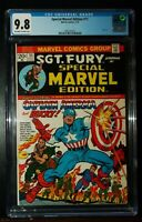 1973 SPECIAL MARVEL EDITION #11 SGT. FURY CAPTAIN AMERICA Comics CGC 9.8 NM-M