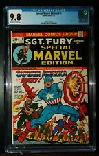 1973 SPECIAL MARVEL EDITION #11 SGT. FURY CAPTAIN AMERICA Comics CGC 9.8 NM-M*