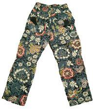 New Oilily Floral Cotton Ladies Teen Girls Vintage Lined Rain deer Pants 152 12