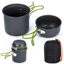 Portable Outdoor Cooking Set Aluminum Pot Bowl Cookware Camping Picnic Hiking