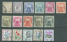 timbres oblitérés France taxe