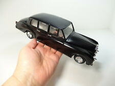 """NFIC Hong Kong ROLLS ROYCE Vintage 11"""" Friction Toy Car Black Limo Windows move!"""