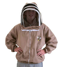 BUZZ Beekeepers BEE JACKET, Cappuccino with fencing hood . Size: EXTRA LARGE