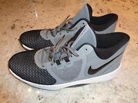 *NEW* Nike Air Precision II Black/Gray Basketball Shoes AA7069-001, Mens Sz 14