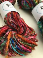 Banana yarn. 100g skein, vegan friendly, multicoloured. Chunky yarn.