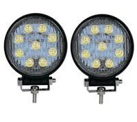 2x 27W 9LED's 1620lm weiß LED Scheinwerfer Arbeitsscheinwerfer 12-24V dünn slim