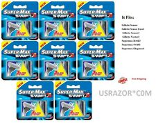 32 Swift3 SupermaxRazor BLADES fits Gillette Sensor 3 Excel Refills Cartridges