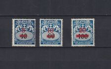DANZIG GERMANY 1932, Mi# 40-42, CV €45, MH, signed