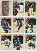 1978-79 OPC Buffalo Sabres 24 Card Team Set G to NM (04-03202020)