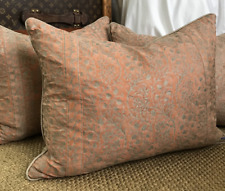 """Fortuny Granada and Linen Pillow 16"""" x 24"""""""