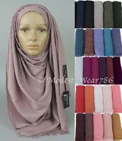 Soft Viscose Maxi Hijab Scarves Shayla Shawl Muslim Islamic Headscarf 190x90 cm