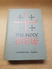 The Holy Bible Confraternity Version New American Catholic Ed. Benziger 1961