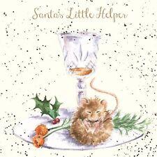 Wrendale Designs Christmas Card Santas Little Helper Fluffy Mouse
