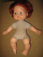 Vintage Baby Strawberry Shortcake Doll Blows kisses nude 1982 American Greeting