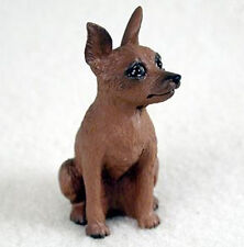 MINIATURE PINSCHER (RED) TINY ONES DOG Figurine Statue Resin Pet Lovers