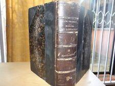 J.-C. BRUNET MANUEL DU LIBRAIRE ET DE L'AMATEUR DE LIVRES  T.3 HAAG-MYVY Ed 1862