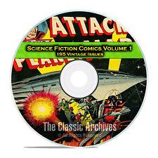 Science Fiction Comics, Vol 1, Space Adventures, Golden Age Comics Pdf Dvd C86