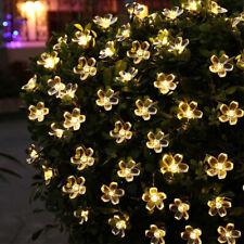 LED Solar Lichterketten Garten Outdoor Dekoration Lampe Party Licht Weihnachten