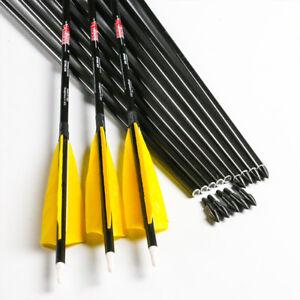 Linkboy Archery SP300-800 Carbon Arrows Shaft Compound Recurve Bow Hunting 6PCS