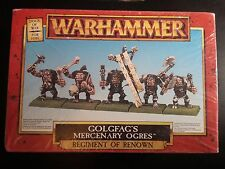 Warhammer Fantasy Golgfag's Mercenary Ogres Renown Dogs of War New Metal