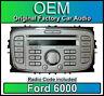 FORD 6000 LETTORE CD, Argento FOCUS autoradio unità principale con Radio Codice