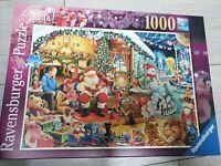 Ravensburger 1000 piece jigsaw puzzle Let's Visit Santa Limited Ed Xmas Complete
