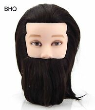 Celebrity Mannequin Male with Beard 100% Human Hair
