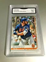 PETE ALONSO ROOKIE CARD 2019 Topps #475 Set Variation GMA Graded 10 Gem Mint