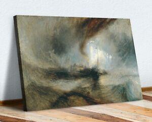 CANVAS WALL ART PRINT ARTWORK J M W TURNER Snow Storm Steam-Boat off a Harbour