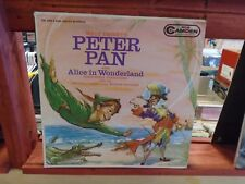 Peter Pan also Alice In Wonderland [Walt Disney] LP RCA Camden Records VG+ mono