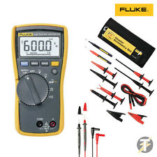 Fluke 114 True RMS Multimeter | TLK-225 Master Accessory Set | Probes and Clips