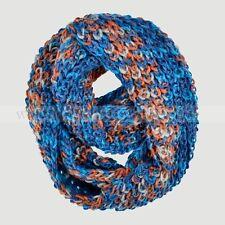 Multi Color Knit Infinity Winter Scarf Elastic Warm Wool Feel Circle Loop