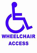 WHEELCHAIR ACCESS - Disabled vinyl, car sticker