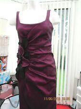 """""""s.l fashions"""" ladies plum coloured cocktail dress size 8"""